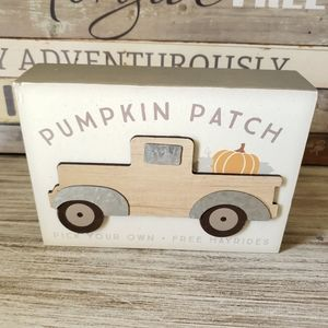 Pumpkin Patch with Truck Sign New